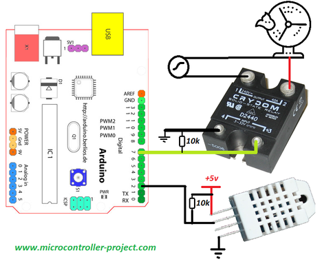 solid state relay wiring diagram sunpro super tach 11 how to interface ssr with arduino and control appliances a working room auto ac on off depending temperature example is presented in