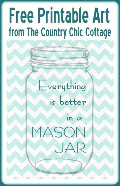 photo regarding Free Printable Mason Jars referred to as Something is Superior inside a Mason Jar Free of charge Printable Artwork My