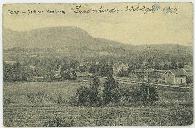 AKERSHUS - Bærum kommune - Parti fra Wøyenengen. Brukt i 1920. (Asker & Bærums Budstikes Forlag no. 75)