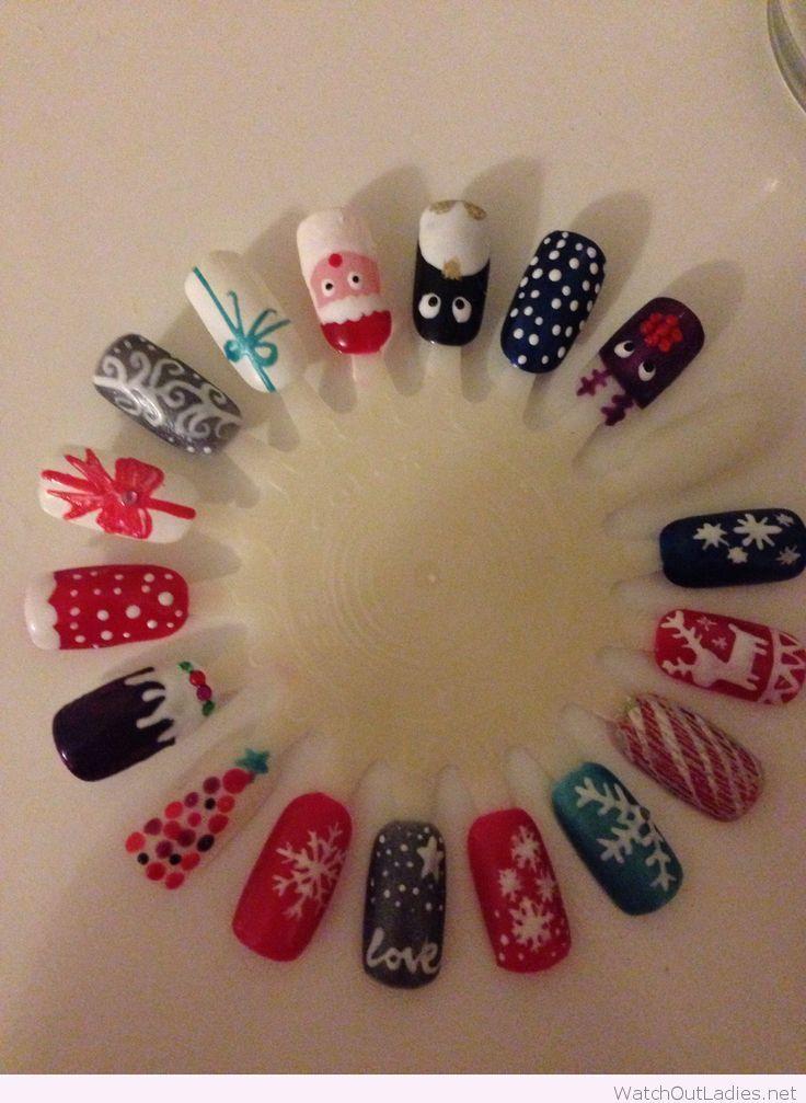 Gel nails Christmas designs - Gel Nails Christmas Designs Watchoutladies.net Pinterest Uña
