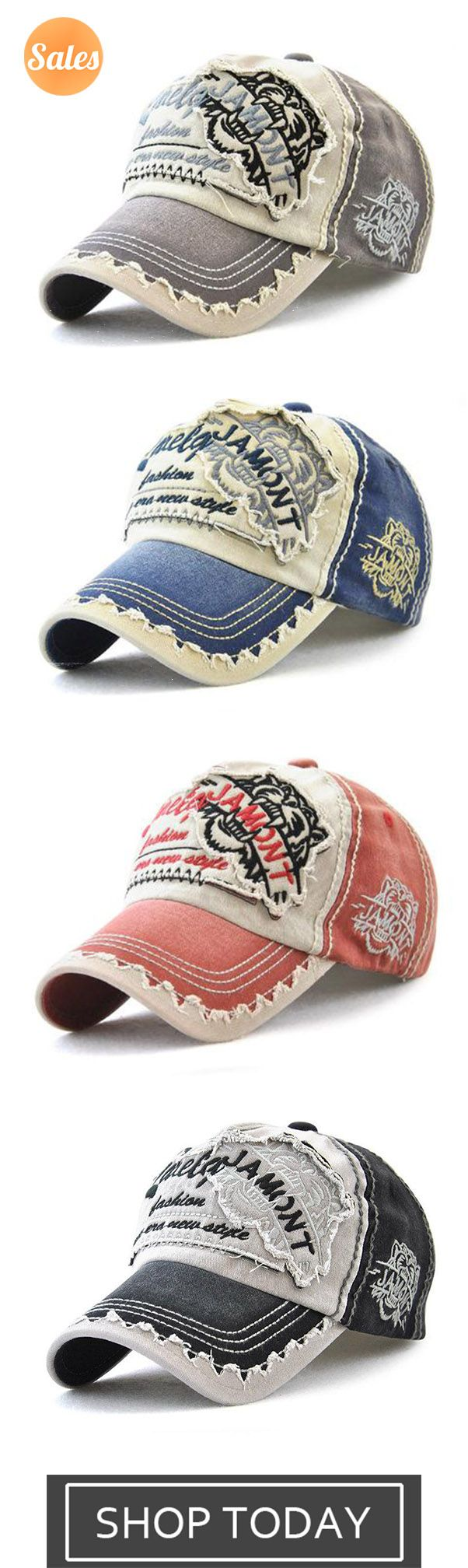 cae313efa065b4 Men Vintage Patch Embroidered Letter Sunshade Hat Baseball Caps in ...