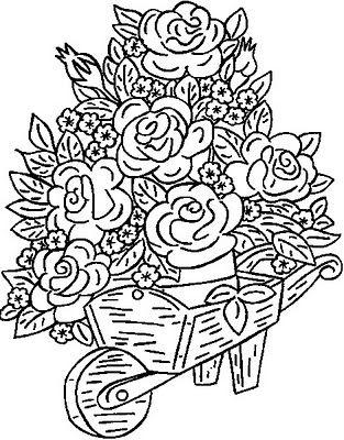 Risco Para Pintura Em Tecido Flores 4 Paginas Para Colorir
