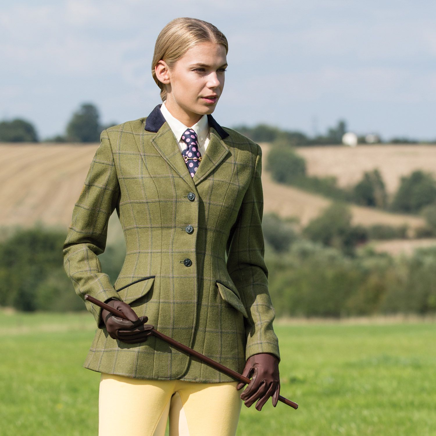 Exclusive Equetech Green Herringbone Tweed With Stylish Staggered Navy And Pink Over Check Design Features Fl Riding Jacket Equestrian Outfits Hacking Jacket [ 1500 x 1500 Pixel ]