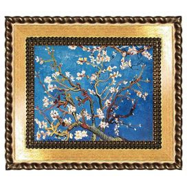 Branches of an Almond Tree in Blossom by Van Gogh Framed Canvas Reproduction