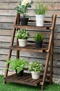 Rustic Wood Plant Ladder Shelf 5 Ways To Use It In 2020 Plant Ladder Plant Shelves Outdoor Plant Stands Outdoor