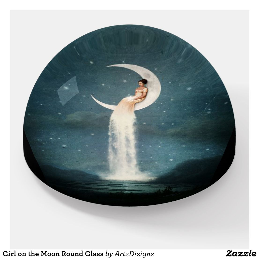 Girl On The Moon Round Glass Paperweight Advertise Anything Ford Model A Wiring Diagram Http Wwwuniwarenet Support Vcrm 1930 Visit