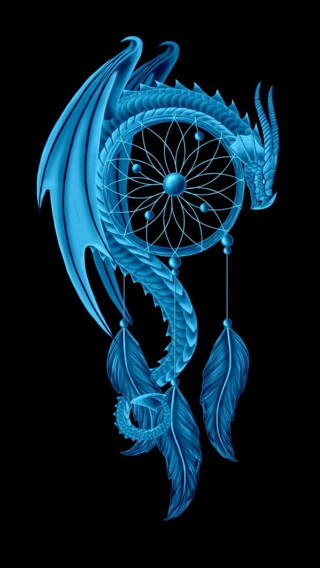 Pin By Michelle Buffington On Phone Backgrounds 30 Blue Dragon Tattoo Dragon Art Dragon Tattoo Designs Live wallpaper dragon tattoo