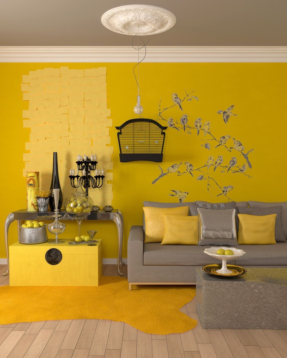 Attractive 25 Gorgeous Yellow Accent Living Rooms