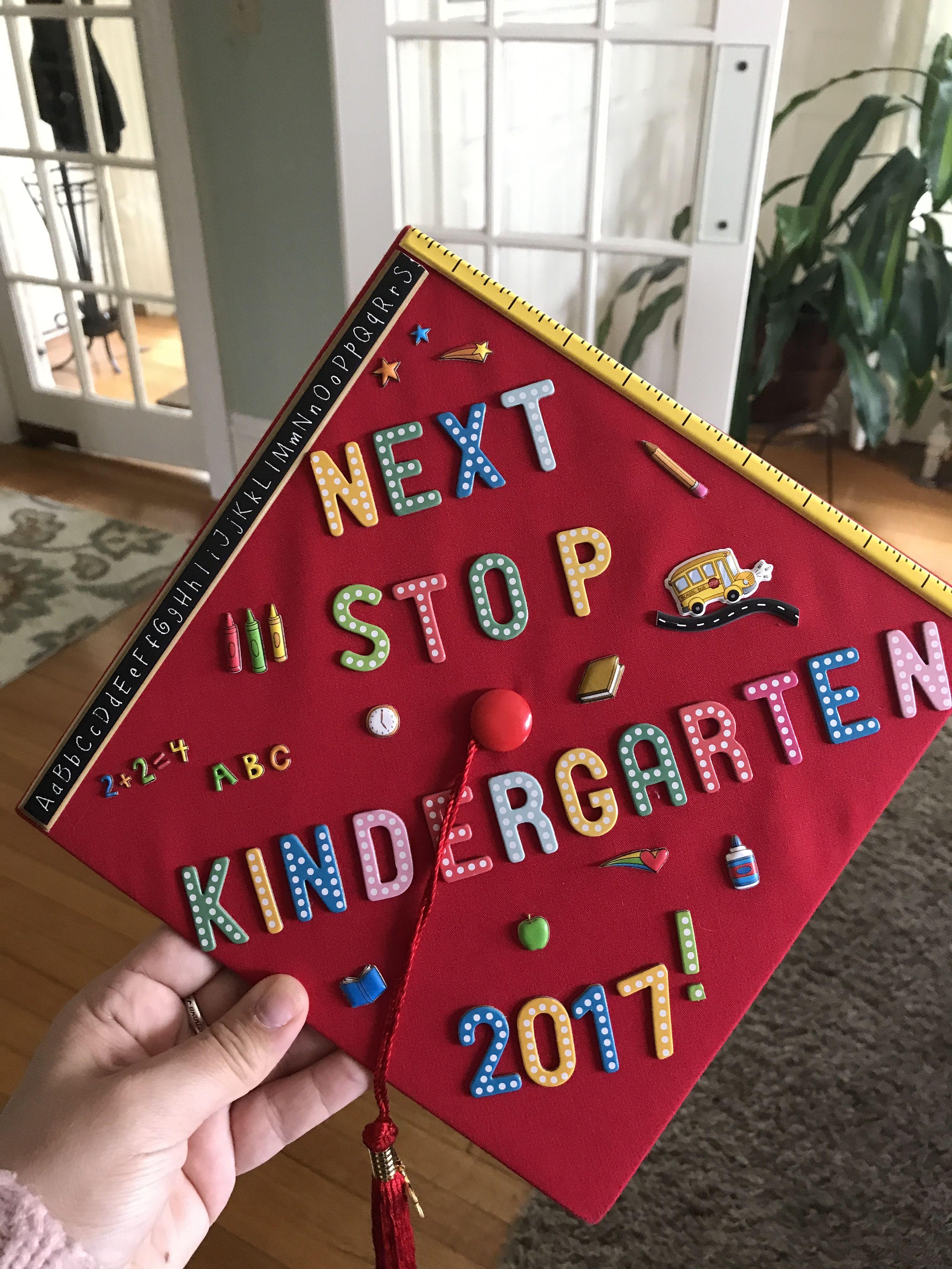 Graduation Cap Diy Diy Graduation Cap Kindergarten Graduation Cap Graduation Cap Decoration