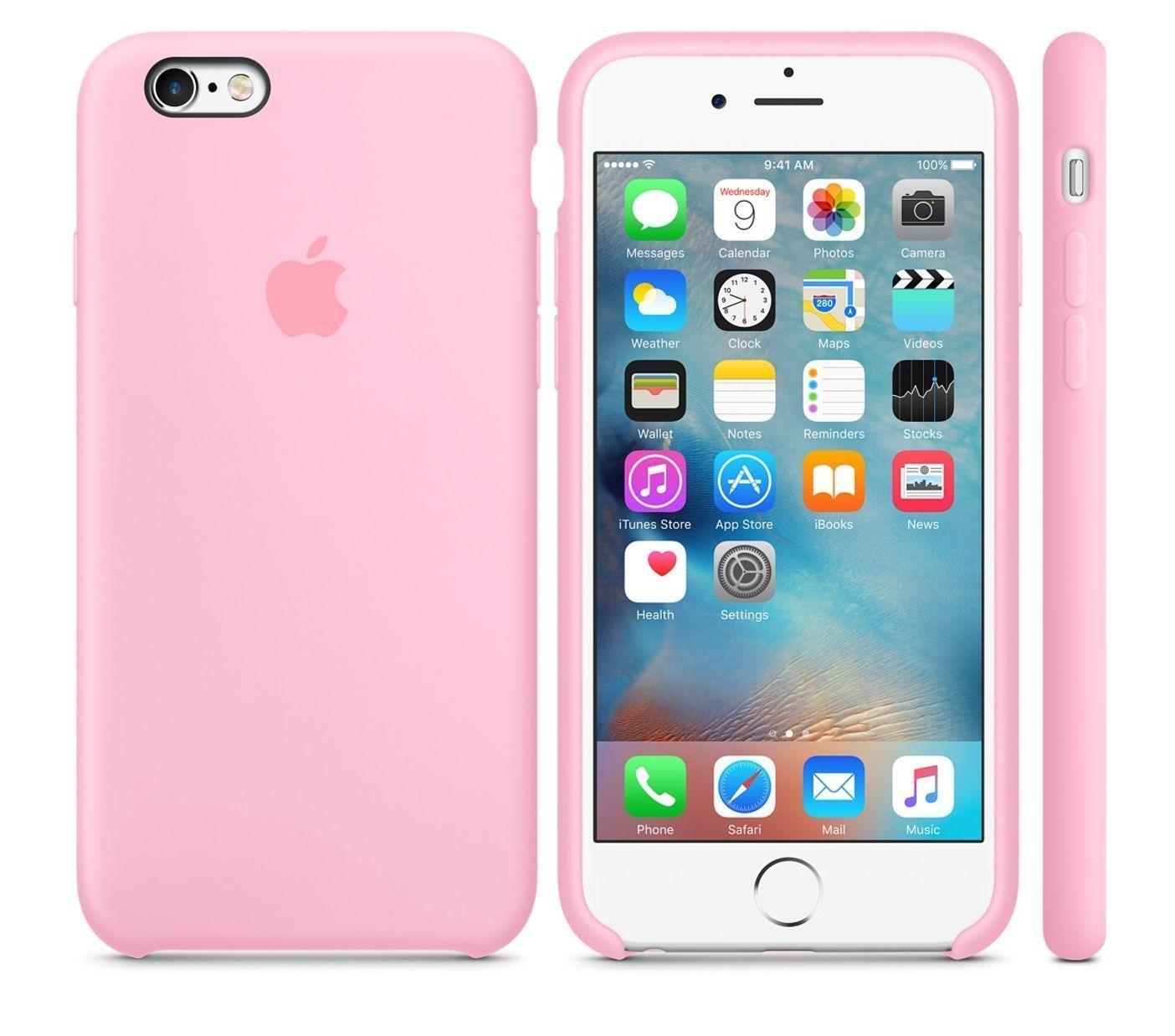 e95da3b84d5 Light Pink Genuine Apple Silicone Case For Iphone 6S 4.7