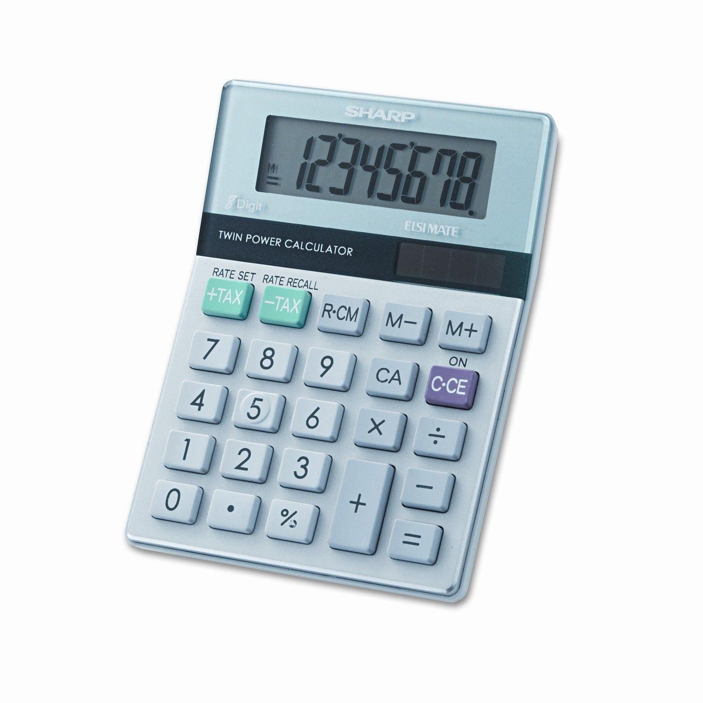 Battery Powered s 8 Character - Lcd Sharp El233sb 8-digit Pocket Calculator