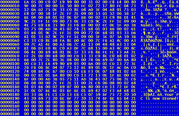 Stoned-virus-hexacode - Virus (informatica) - Wikipedia