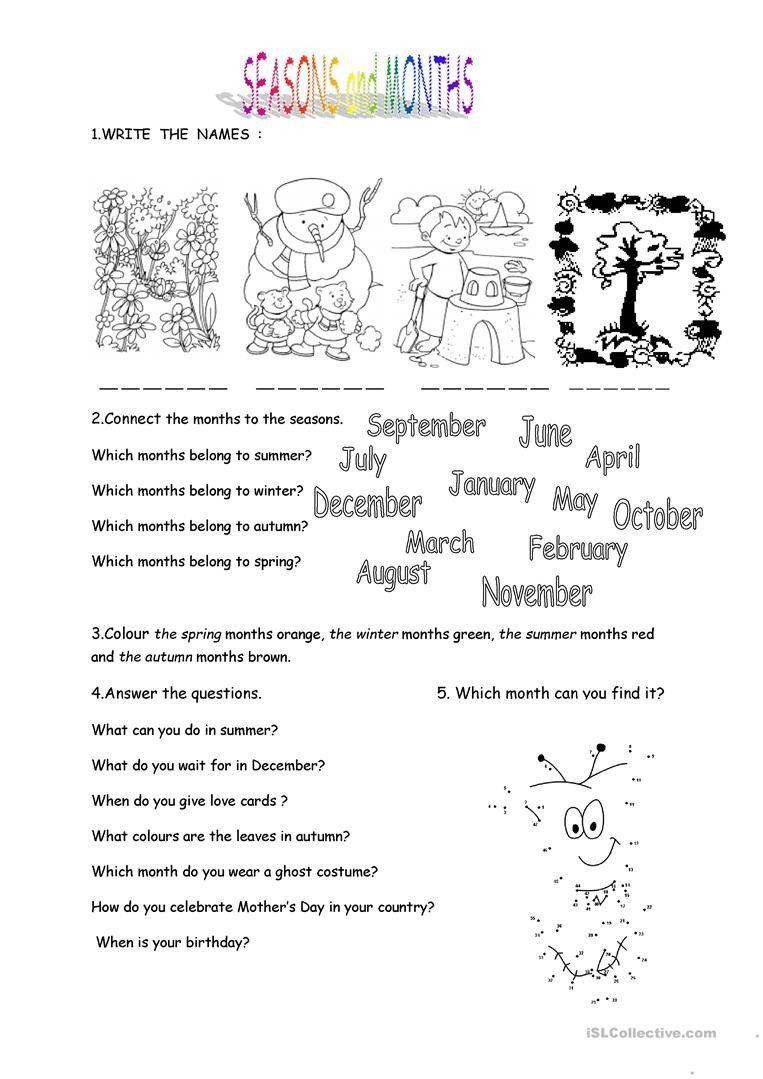Predownload: Seasons Worksheets Kindergarten Months And Seasons English Esl Worksheets For Dist Seasons Worksheets Kindergarten Worksheets Kindergarten Worksheets Printable [ 1079 x 763 Pixel ]