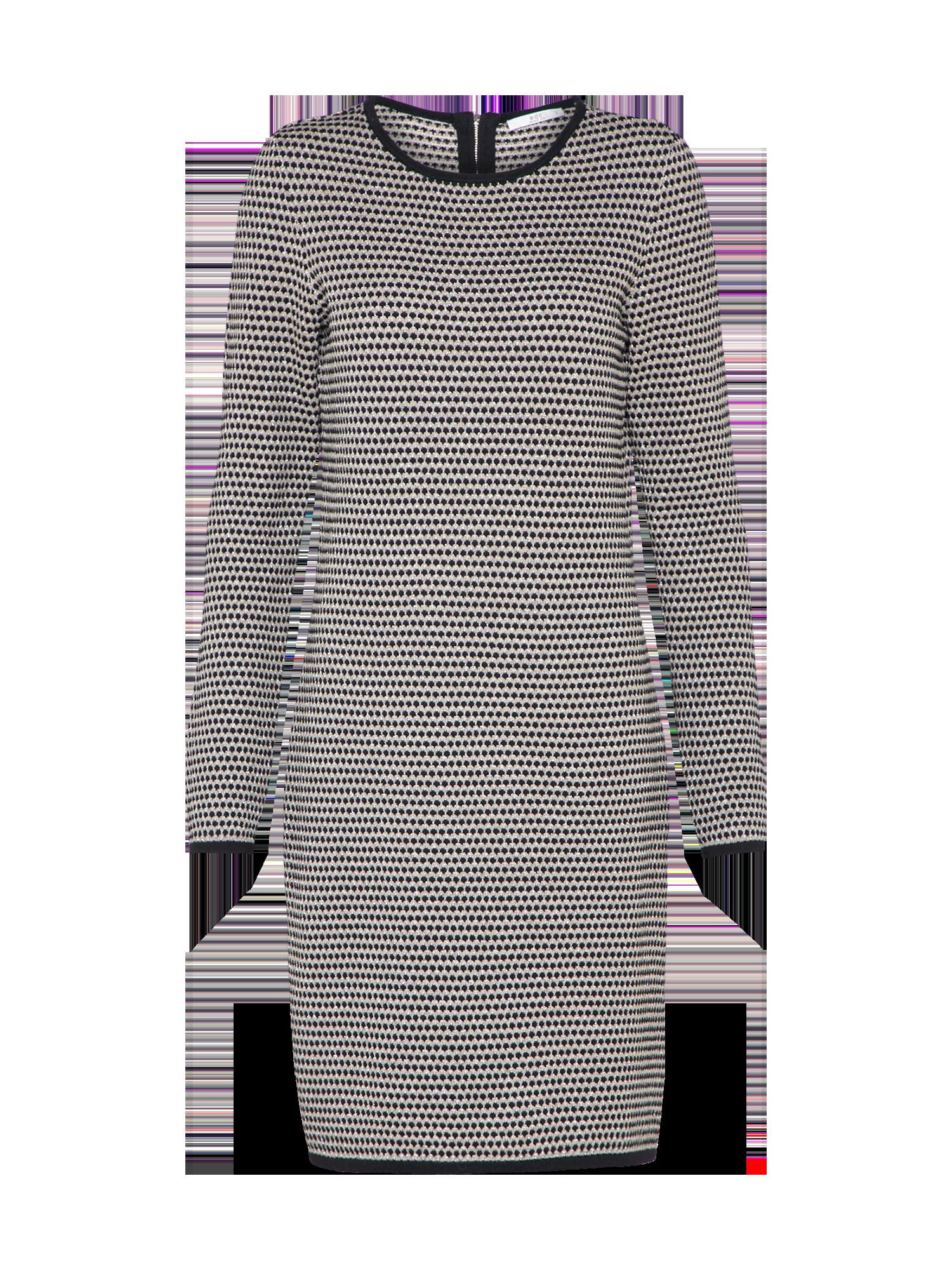 EDC  BY  ESPRIT,Esprit  Damen  Kleid  patterned  grau,  weiß ... ec49a3b30e