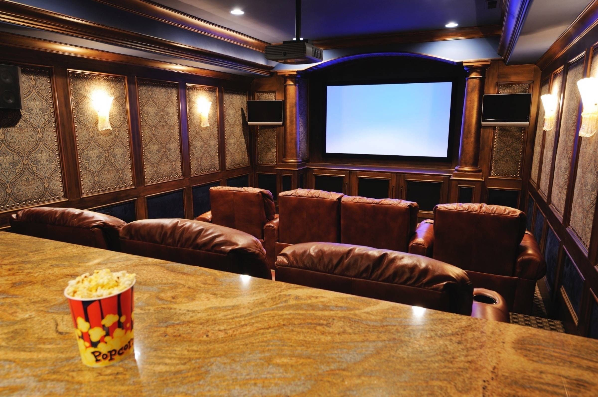 Small Basement Home Theater Ideas Room Wiring Systems Cost