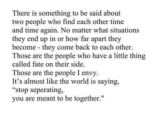 Together Quotes Meant To Be Quotes Fate Quotes