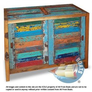 Sideboard With Sliding Doors, Reclaimed Boat Timber. Nautical, Recycled,  Reclaimed, Boatwood