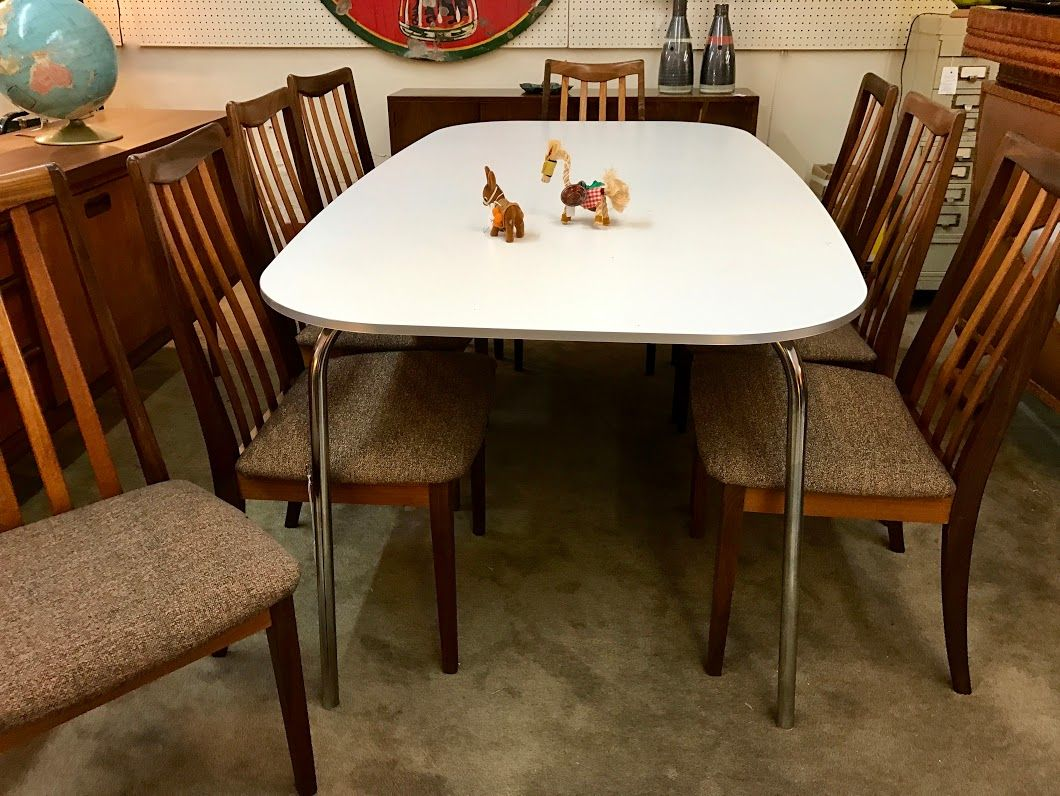 Retro Formica Dining Table On Sale Was 140 Sale Price 95 Mid Century Dallas Booth 766 Lula B S 1010 Dining Table Mid Century Furniture Century Furniture