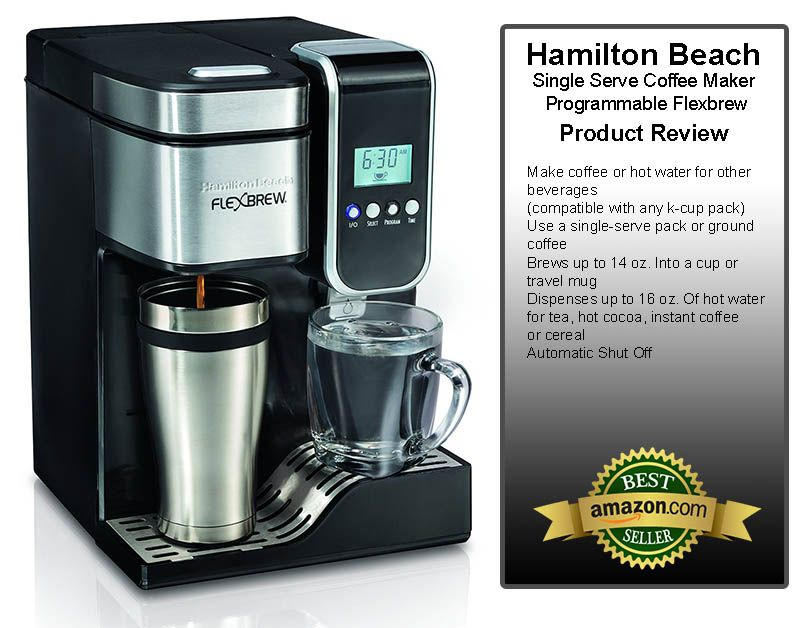 Hamilton Beach Single Serve Coffee Maker Programmable Flexbrew With