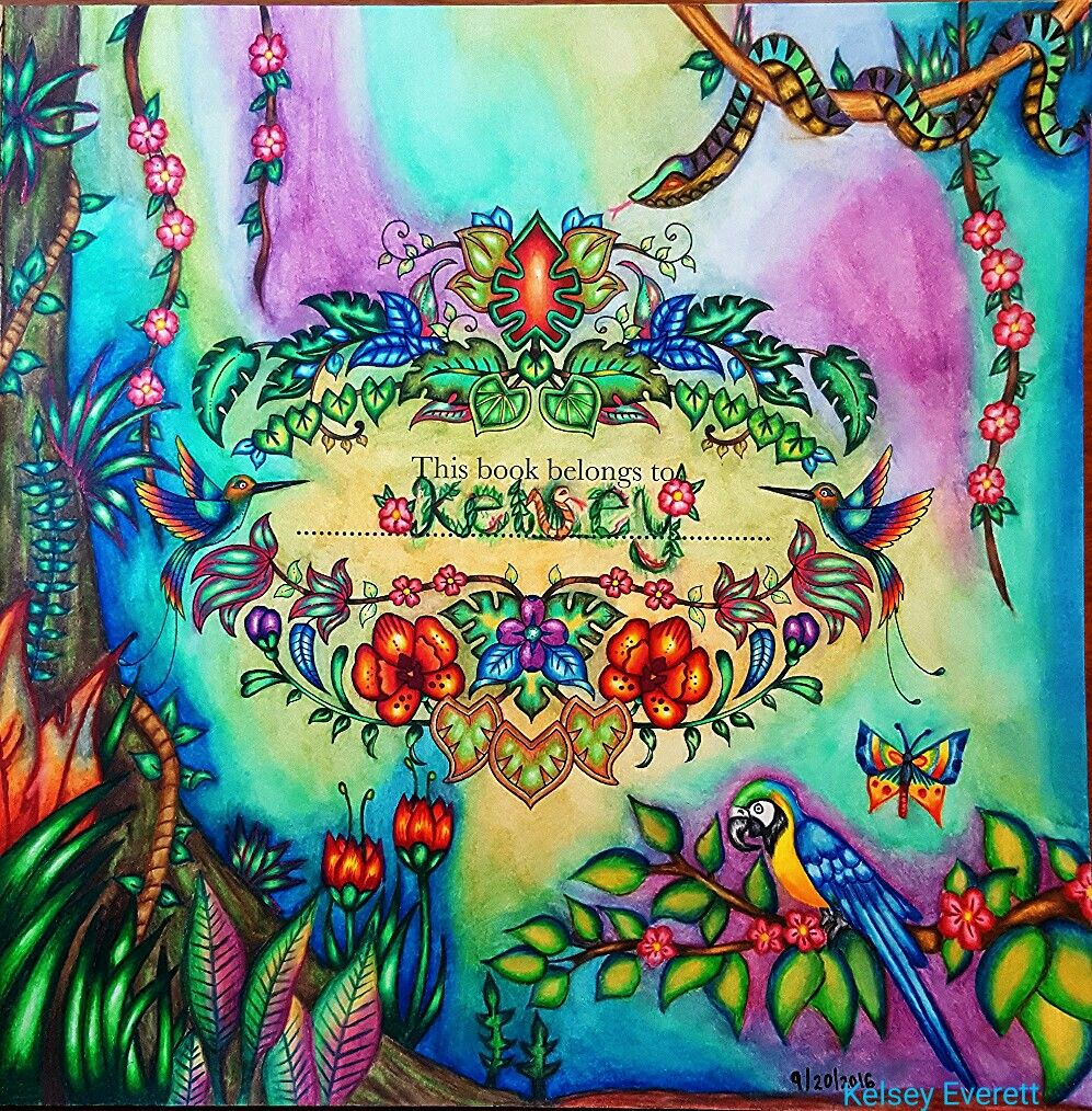 magical jungle coloring book by johanna basford colored by kelsey