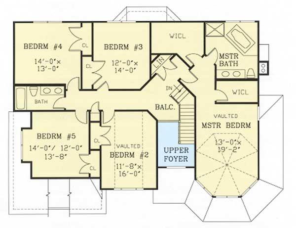 Plan 38803ja Six Bedroom Victorian Farmhouse House Floor Plans Victorian Farmhouse Diy House Plans