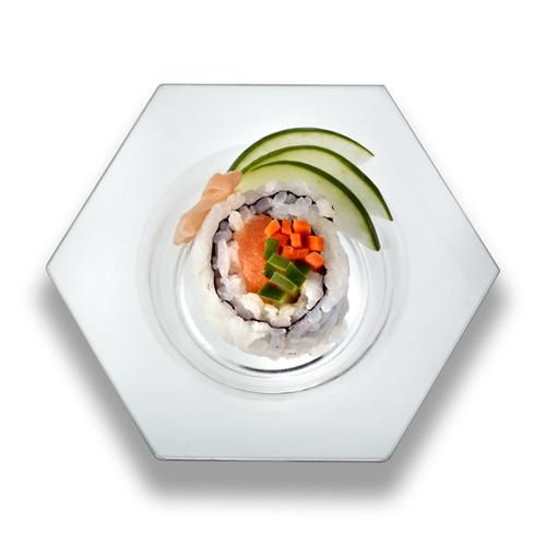 Explore Disposable Plates Plastic Plates and more!  sc 1 st  Pinterest & Hexagon Clear Sample mini Plates by smartyhadaparty.com. | Tableware ...