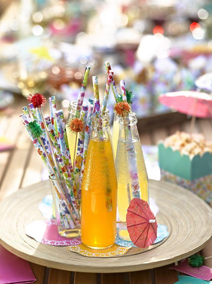 fiestas de cumpleanos originales refrescos decorados