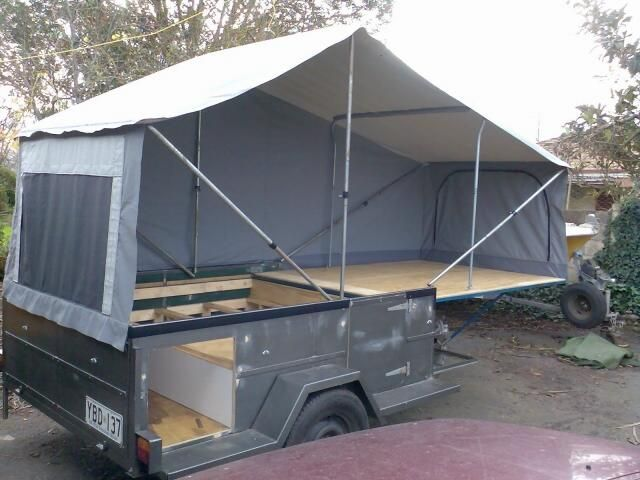 Homemade Tent Trailer | dirks diy c&er trailer & Homemade Tent Trailer | dirks diy camper trailer | Travel Camping ...