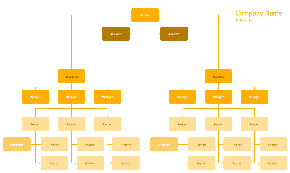 Hierarchical org chart template 5 management 25 typical hierarchical org chart template 5 maxwellsz