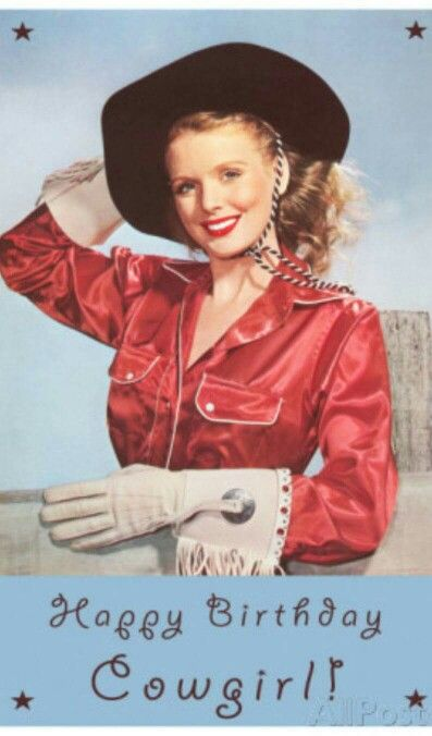 Happy Birthday Cowgirl Happy Birthday Cowgirl Vintage Cowgirl