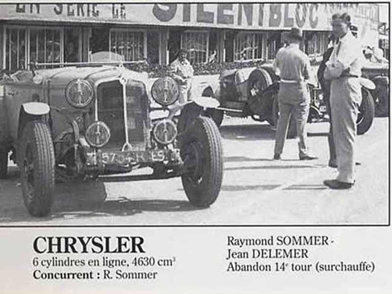 LE MANS 1931 CHRYSLER 80 8 Le mans, Sports car racing