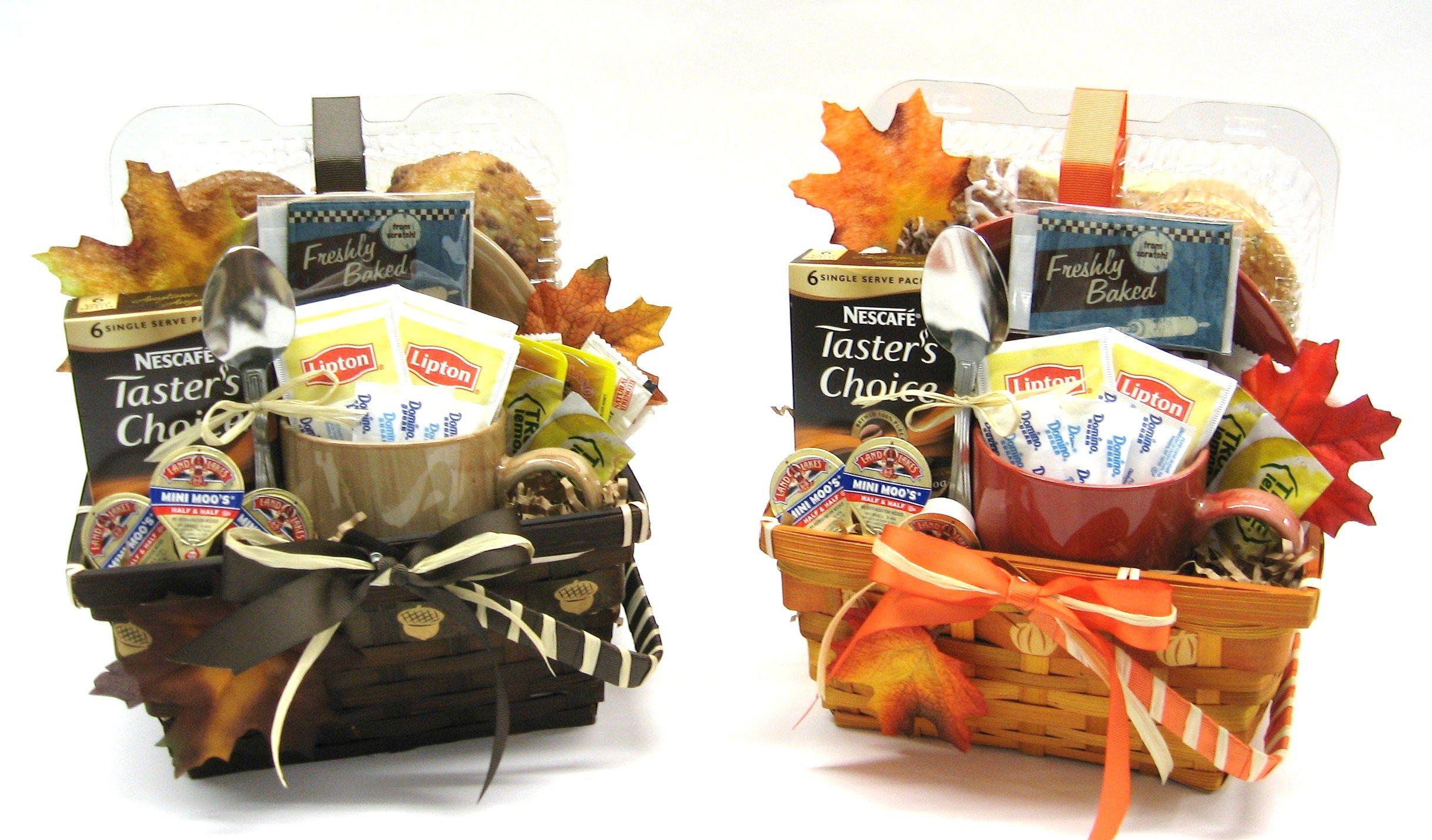 Fall Theme Coffee and Tea Gift Baskets Tea gift baskets