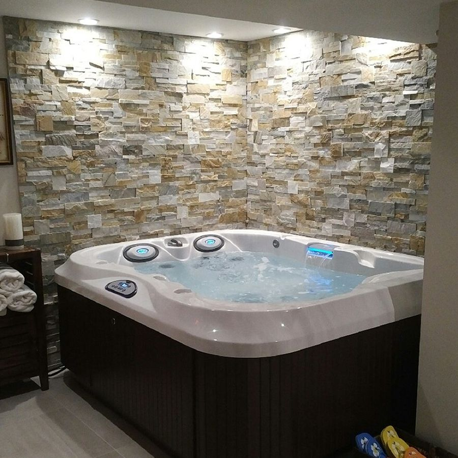 Pretty Indoor Jacuzzi Family Hot Tub Installation Jacuzzi Hot Tub Hot Tub Room Indoor Hot Tub