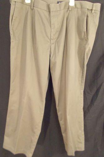 $6 46x29 Olive Green DOCKERS KHAKIS Dress Pants BIG & TALL