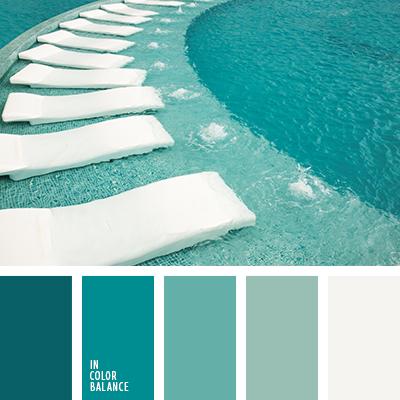 Цветовая палитра №1574 | Combinación de colores, Aguamarinas y Relajante