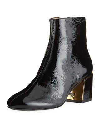 1b425a1fb93604 Tory Burch Juliana Patent Leather Booties