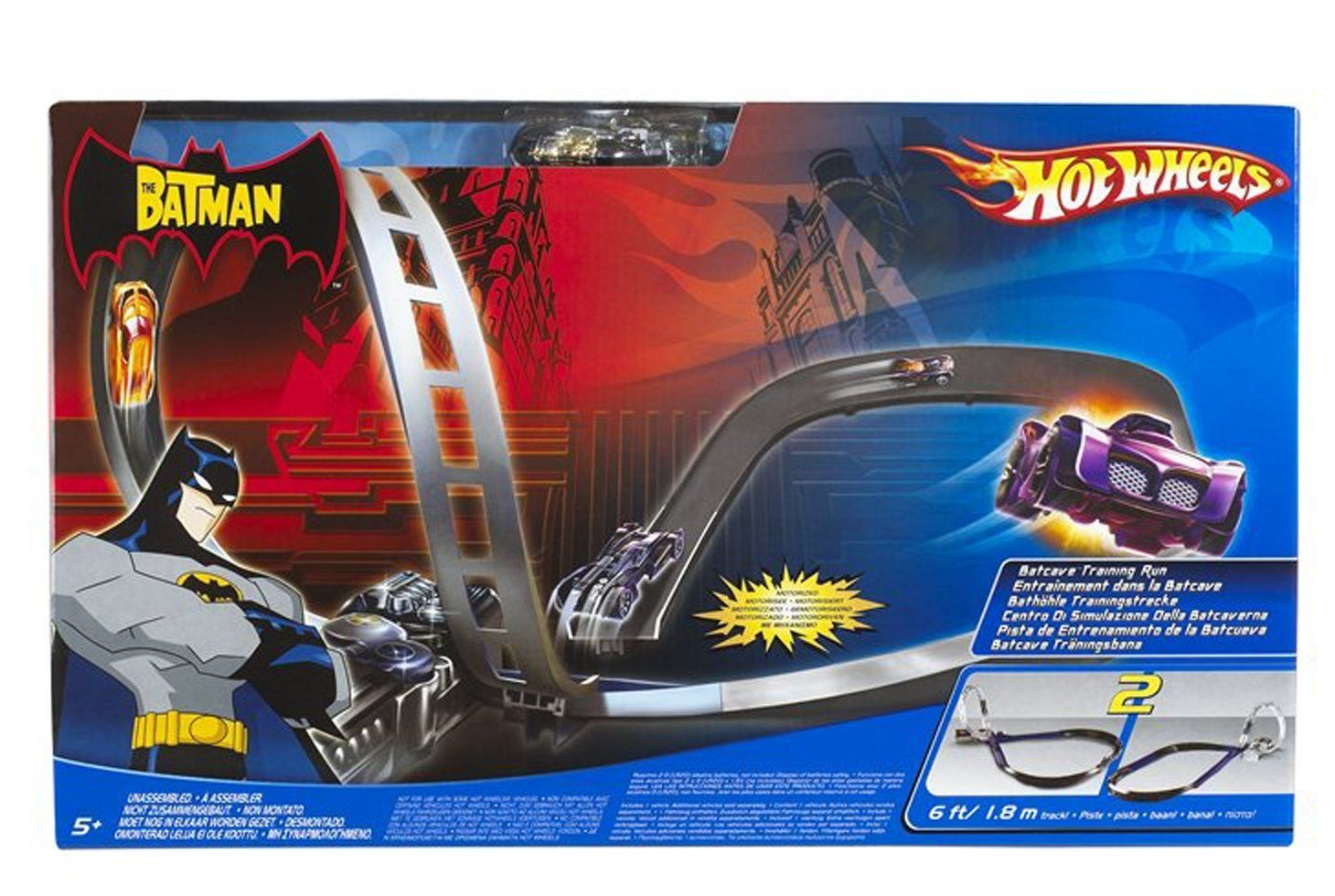 Amazon Com Hot Wheels The Batman Batcave Training Run Toys