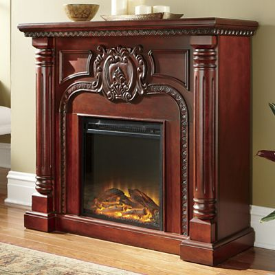 Carved Pillar Fireplace Home Fireplace Fireplace Remodel Stone