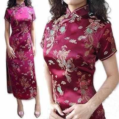 Vestido Oriental Floral Chinesa Japonesa Kimono Festa Noiva ...