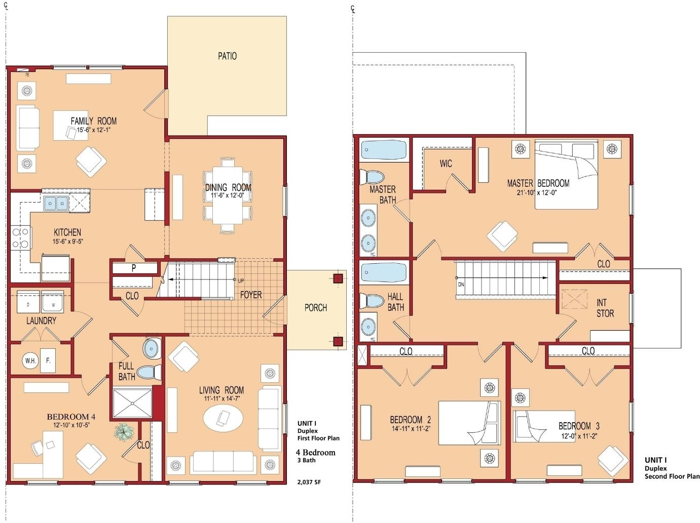 Bedroom beautiful 4 bedroom house plans and 4 bedroom for Modern 4 bedroom house floor plans