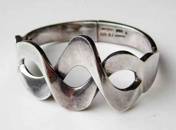 Vintage Taxco Mexican Sterling Silver Bracelet