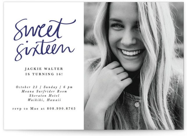 Simply Chic Sweet Sixteen Party Invitations