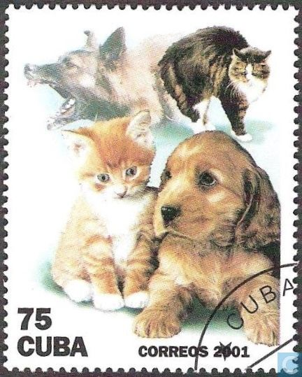 Epingle Sur Timbres Chats