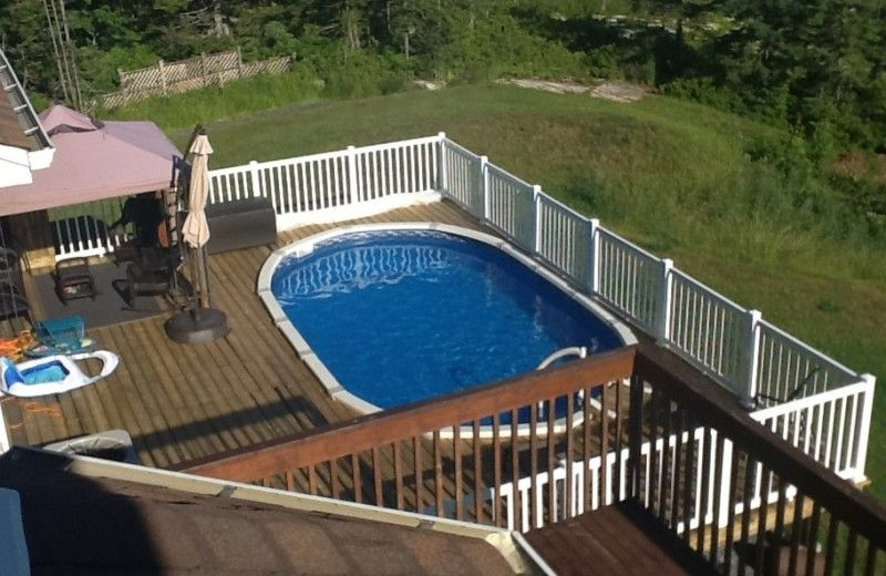 40 uniquely awesome above ground pools with decks - Above Ground Pool Deck Off House