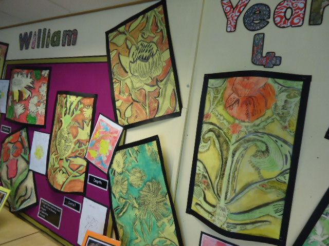 Line Drawing Ks2 : Year william morris inspired drawing project