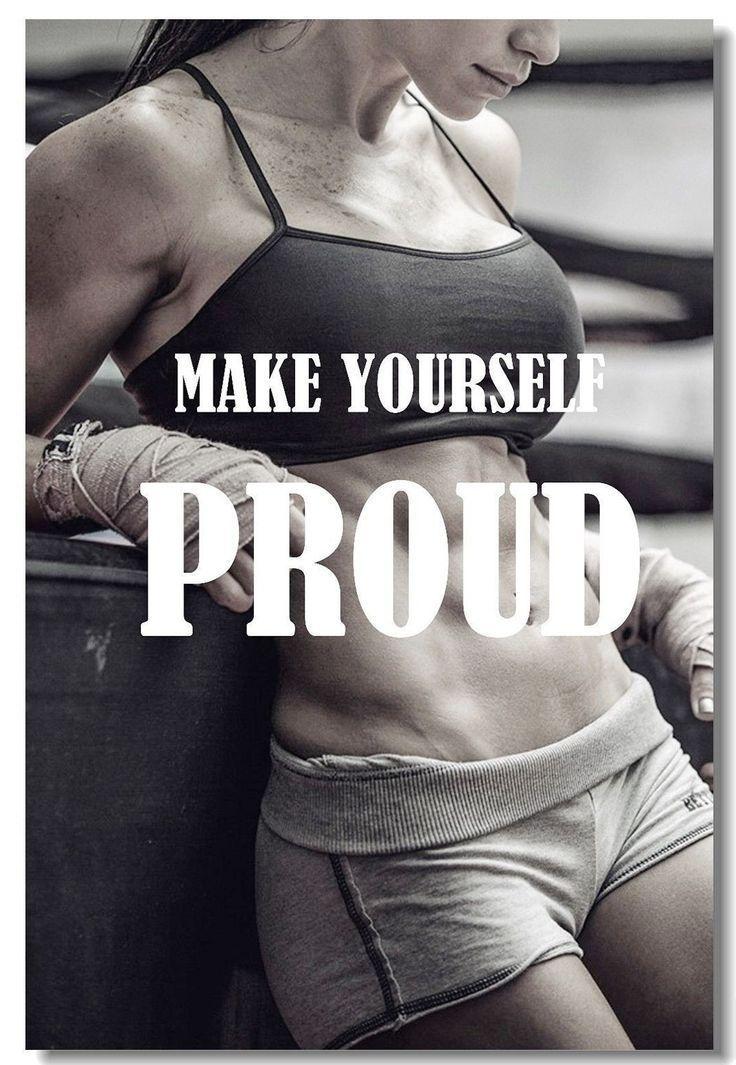 Poster Bodybuilding Men Girl Fitness Workout Quotes Motivational Font Print 01 #fitness #fitnesswork...