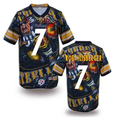 24da2b54a Ben Roethlisberger Men s Elite Black Jersey  Nike NFL Pittsburgh Steelers  Fanatical Version  7