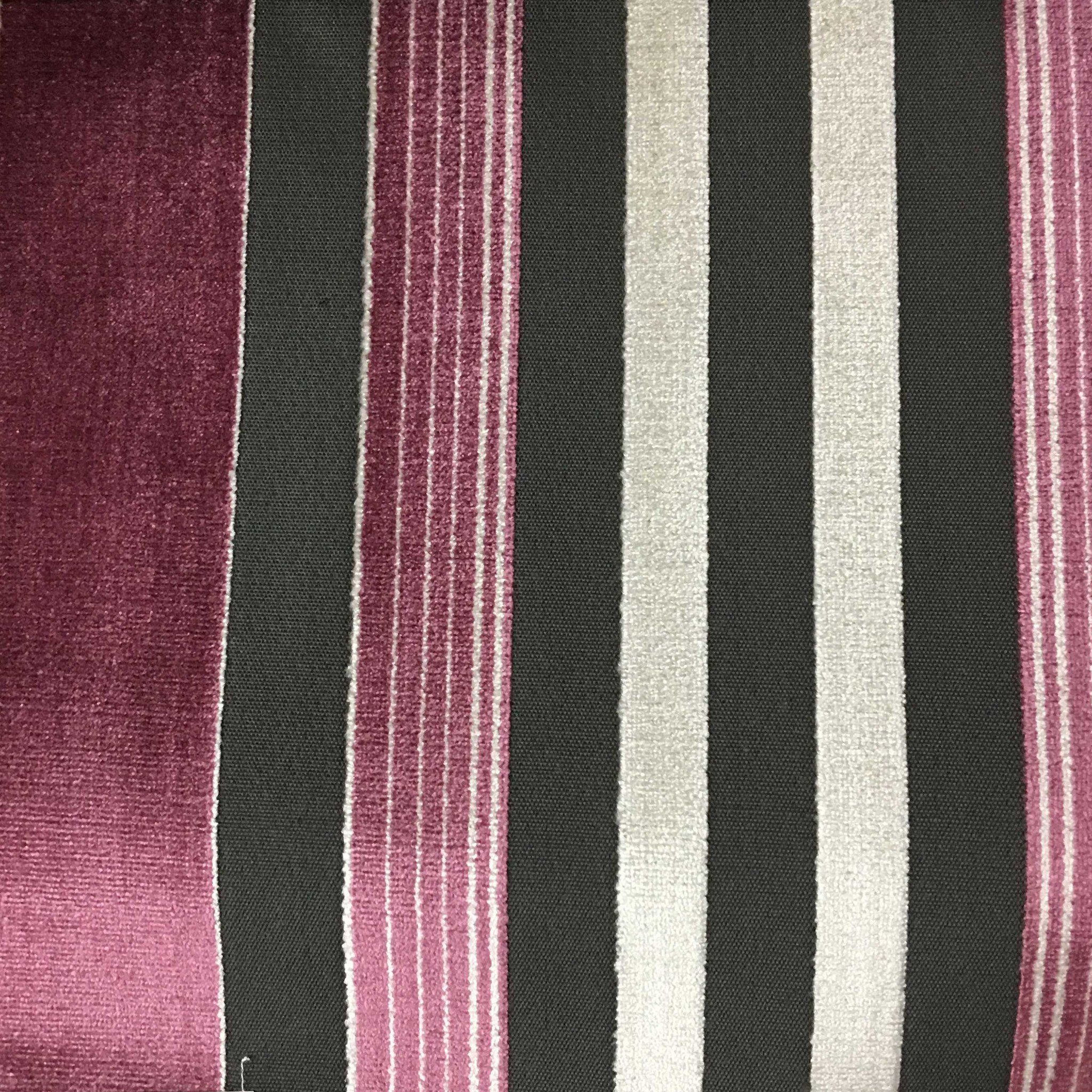 Richmond - Striped Cut Velvet Upholstery Fabric by the Yard ...