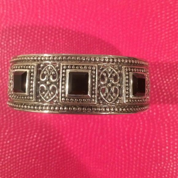 Onyx bangle Sterling onyx 925 initial JB? Accessories