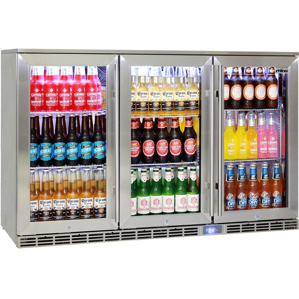 Rhino 3 Door Outdoor Glass Door Alfresco Bar Fridge Energy Efficient In 2020 Bar Fridges Outdoor Bar Glass Door